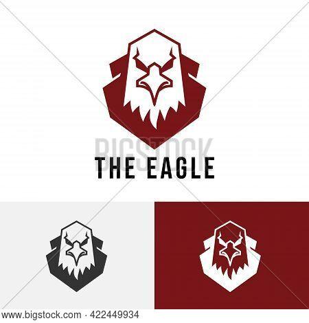 Strong Eagle Falcon Hawk Bird Head Simple Logo