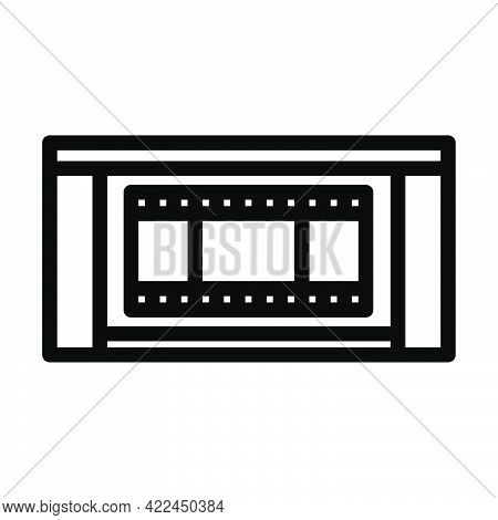 Cinema Theater Auditorium Icon. Editable Bold Outline Design. Vector Illustration.
