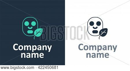 Logotype Facial Cosmetic Mask Icon Isolated Logotype Background. Cosmetology, Medicine And Health Ca