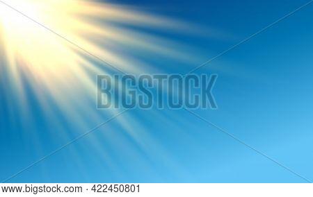 Shiny Golden Vector Long Rays Horizontal Design