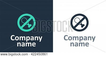 Logotype No Meat Icon Isolated Logotype Background. No Fast Food Allowed - Vegetarian Food. Logo Des