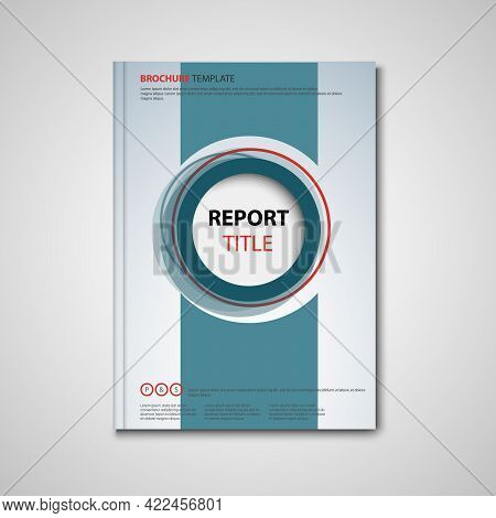 Brochures Book Or Flyer With Abstract Circles In The Middle Template Vector Eps 10