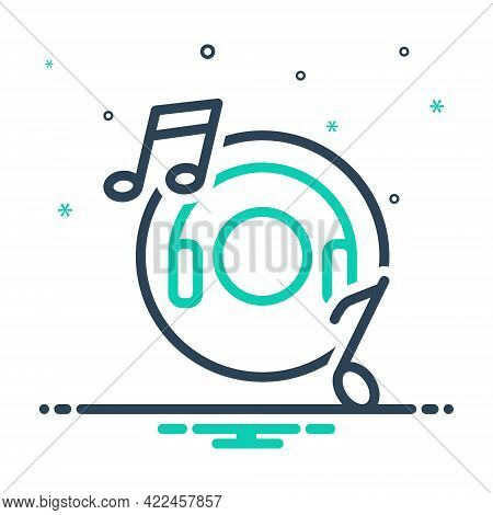 Mix Icon For Music Entertainment Djconcert Listen Production Musically Concert Listening Headphones
