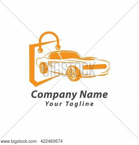 Auto Car Shop And Shopping Logo Design Element.eps 10