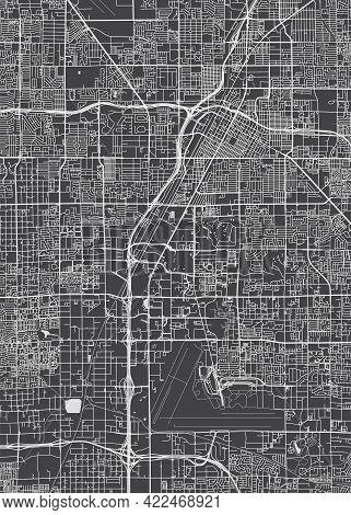 City Map Las Vegas, Monochrome Detailed Plan, Vector Illustration
