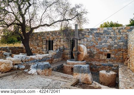 Restored Traditional Rural House In Ancient City Kanli Divane Or Canytelis, Ayaş, Turkey. There's Hu