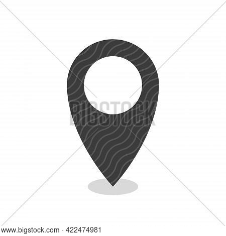 Pin Point Icon. Location Icon. Navigation Point Sign. Vector Illustration