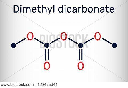 Dimethyl Dicarbonate, Dmdc, Velcorin, Dimethyl Pyrocarbonate Molecule. It Is Beverage Preservative,
