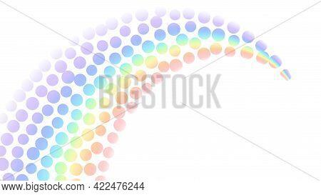 Rainbow Gradient, White Background. Community Tolerance Design. Circle Color Rainbow. Round Colorful