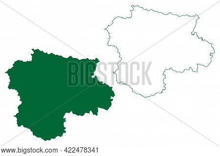 Satara District (maharashtra State, Pune Division, Republic Of India) Map Vector Illustration, Scrib