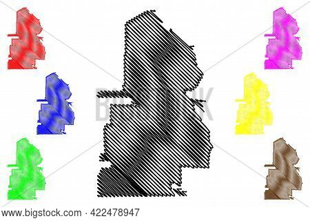Santa Clara City, California (united States Cities, United States Of America, Usa City) Map Vector I