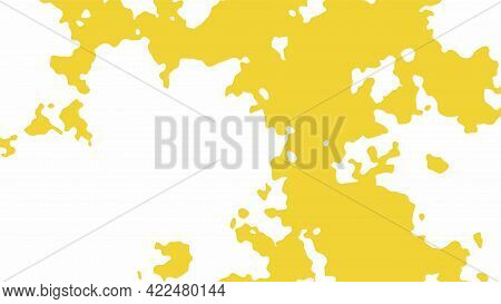 Abstract Vector Grunge Background. Chaotic Color Spots With Uneven Edges.