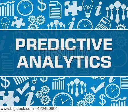 Predictive Analytics Text Written Over Blue Background.