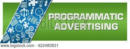 Programmatic Advertising Text Written Over Blue Green Background.