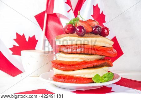 Canada Day Pancakes