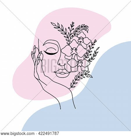 Face Line Art. Face Painting. Contemporary Portrait. Continuous Line Drawing Faces Abstract Face One