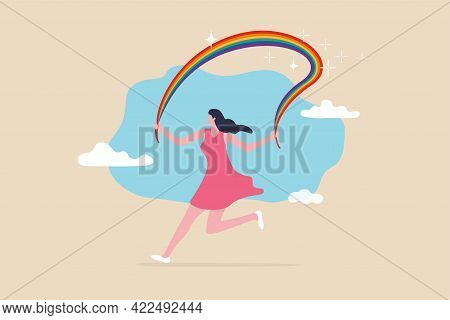 Embrace Lgbt Rainbow Pride, Equality And Freedom In Gender, Lesbian, Gay, Bisexual And Transgender C