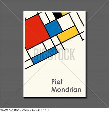 Fashion Poster Inspired By Postmodern Piet Mondrian. Neoplasty, Bauhaus. Useful For Interior Design,