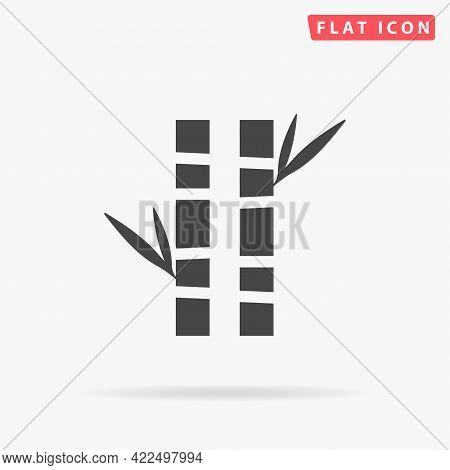 Bamboo Tree Flat Vector Icon. Hand Drawn Style Design Illustrations.
