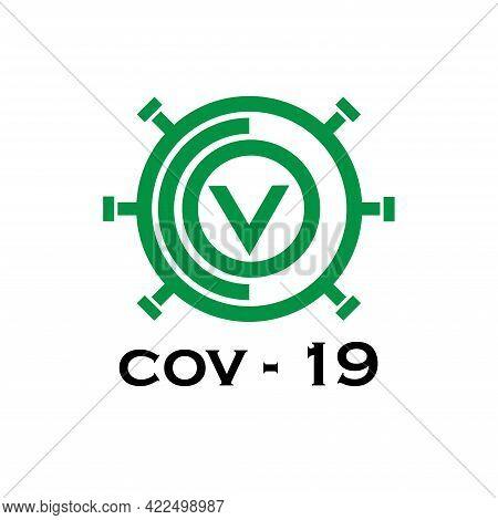 Covid 19 Design Logo Vector. Covid 19 Illustration Virus Pendemic