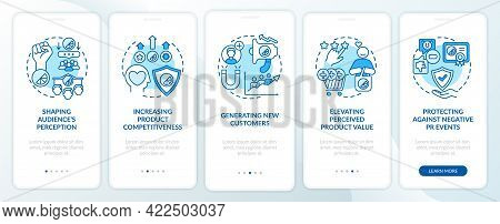 Strong Brand Identity Onboarding Mobile App Page Screen With Concepts. Shaping Audience Perception W