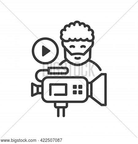 Videoblog - Vector Line Design Single Isolated Icon