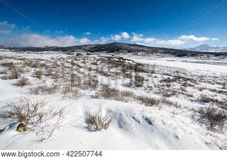 View Of Ulagan Highlands In Altay Mountains In The Winter, Siberia, Russia