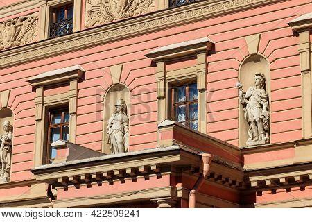Fragment Of St. Michael's Castle Also Called Mikhailovsky Castle Or Engineers' Castle In St Petersbu