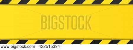 Yellow Black Background Stripes. Risk Sign Abstract Pattern For Your Text, Vector