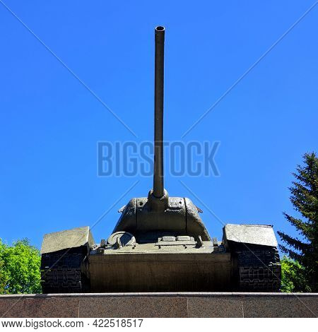 T 34 Tank Monument To The Great Patriotic Warrior, Russia, City Of Belgorod Village Of Prokhorovka M