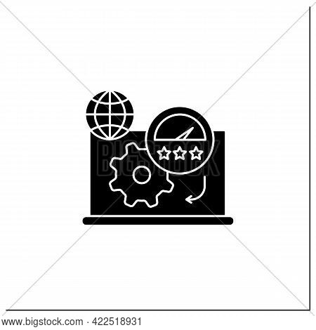 Productivity Standards Glyph Icon. Overload Work Productivity. Growth And Profitability. Remote Mana