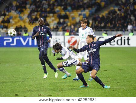 UEFA Champions League jogo entre Fc Paris Saint-germain e Fc Dynamo Kyiv