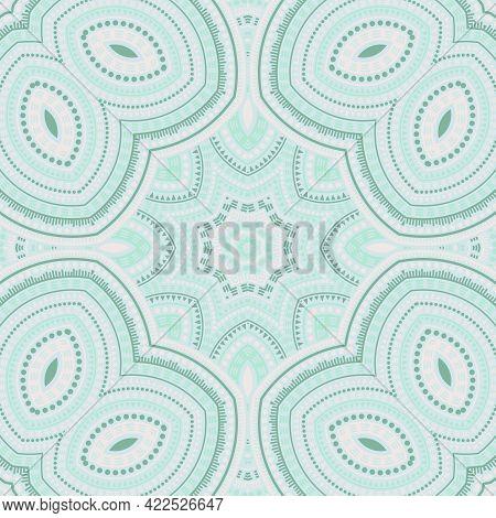 Girih Authentic Geometric Vector Seamless Motif. Batik Print Design. Retro Antique Pattern. Interior