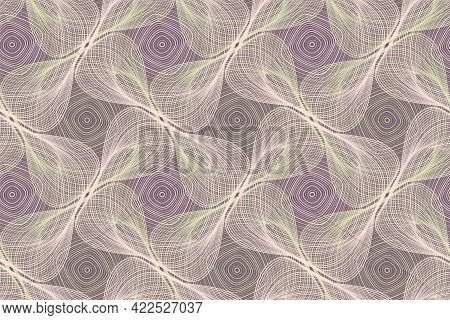 Organic Lines Geometric Shapes Floral Vector Seamless Pattern. Textile Print Graphic Design. Twisted