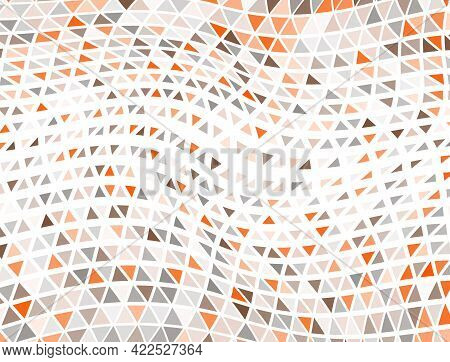 Decorative Triangles Halftone Backdrop. Fade Triangular Structure Cover Background. Pixel Triangles