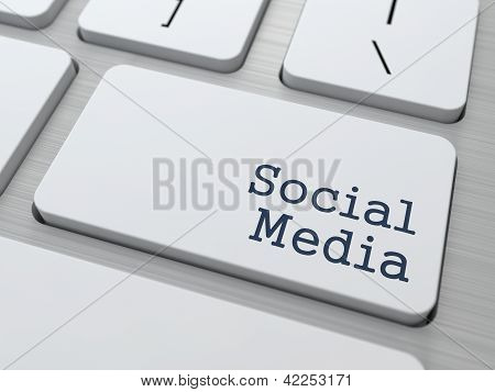 Social Media Concept. Button on Modern Computer Keyboard with Word Partners on It. poster