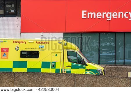 St Thomas Hospital Emergency Department, A And E. London, Britain, May 29, 2021.