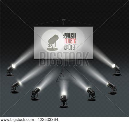 Illuminated Effect Form Projector, Illustration Of Projector For Studio Illumination