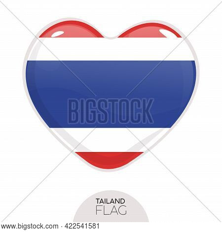 Isolated Flag Tailand In Heart Symbol Vector Illustration