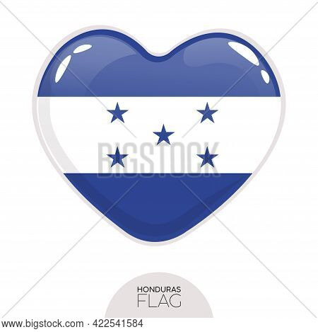 Isolated Flag Honduras In Heart Symbol Vector Illustration