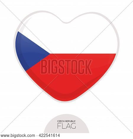 Isolated Flag Czech Republic In Heart Symbol Vector Illustration