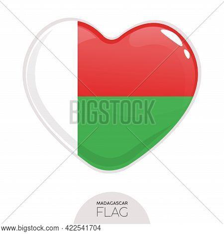 Isolated Flag Brunei In Heart Symbol Vector Illustration