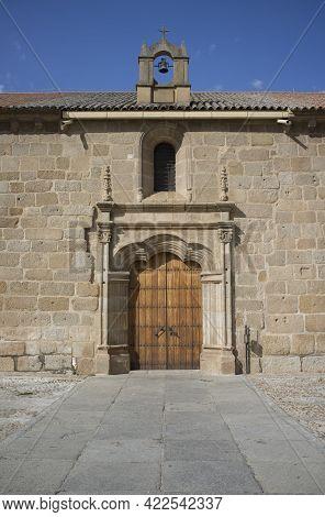 Baroque Doorway Of Santa Eulalia Basilica In Merida. A Showcase Of The Town Twenty Centuries Of Hist