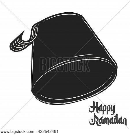 Isolated Cubet Symbol Ramadan Kareem Draw Black Muslim Holy Vector Illustration