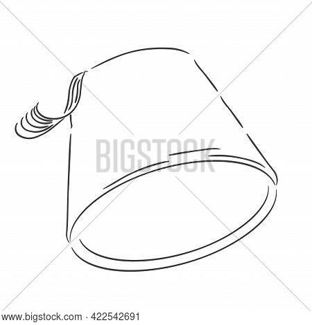 Isolated Cubet Symbol Ramadan Kareem Draw Muslim Holy Vector Illustration