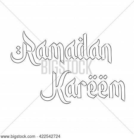 Isolated Letter Symbol Ramadan Kareem Draw Muslim Holy Vector Illustration