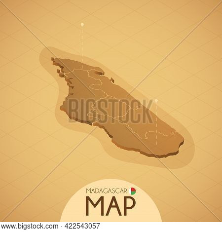 Country Brunei Map Old Style Geography Vector Illustrator