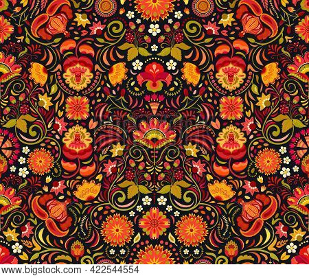Rich Red, Orange, Amber Yellow, Golden, Greenish Warm Inviting Saturated Shades Imitating Colors Of