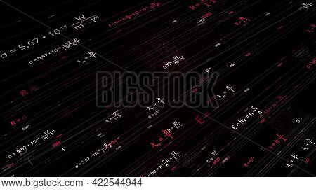 Abstract Futuristic Background Of Information Technology In Educational Sphere. Animation. Using Mod