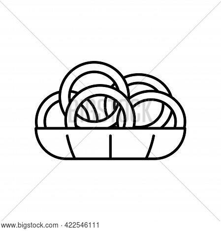 Isolated Box Of Pretzels Icon Vector Illustration